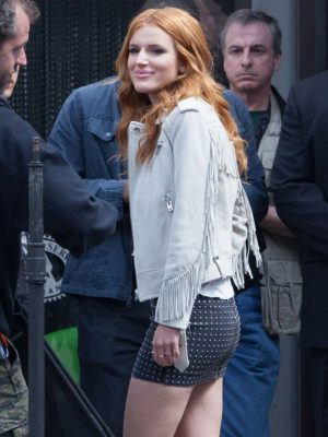 Fringe Bella Thorne Leather Jacket