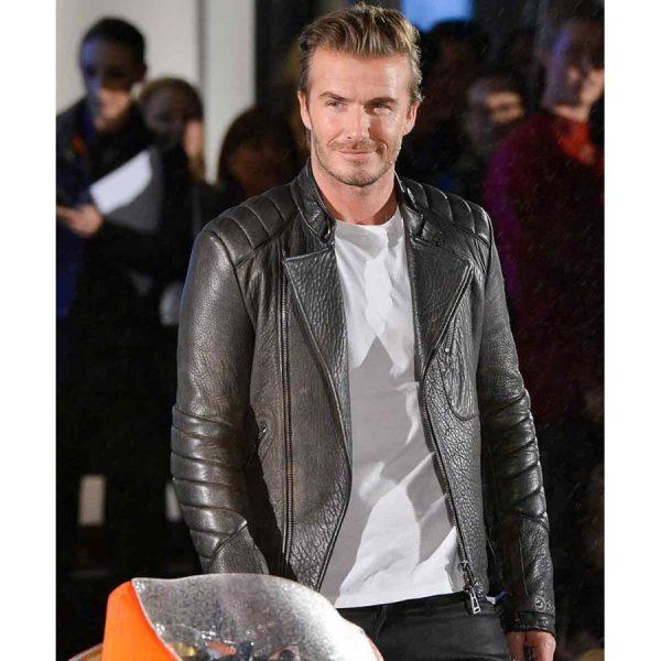 David Beckham Black Quilted Jacket