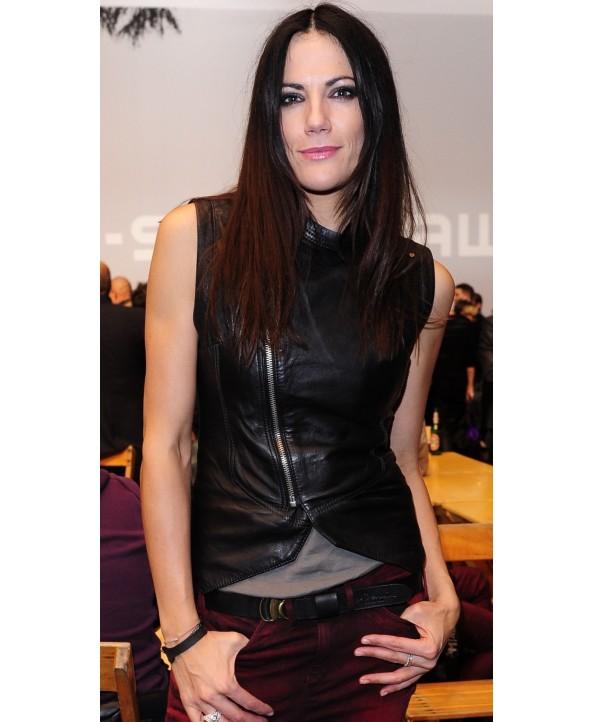 Bettina Zimmermann Leather Vest
