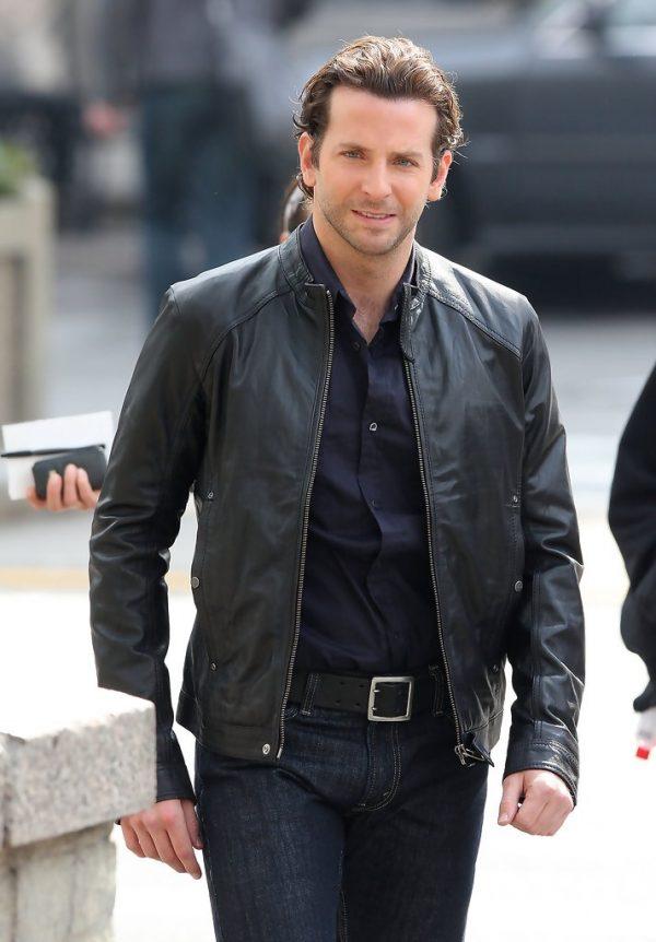 Bradley Cooper Black Leather Jacket Limitless -0