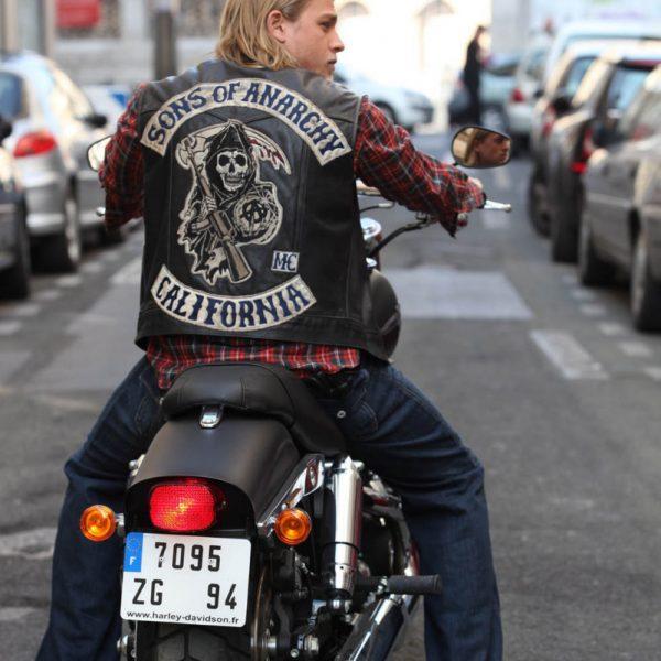 Jax Teller Biker Vest Sons Of Anarchy Charlie Hunnam-0