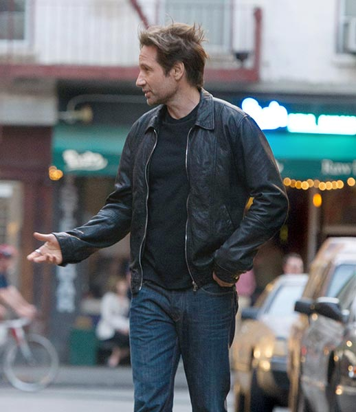 Hank Moody Black Leather Jacket