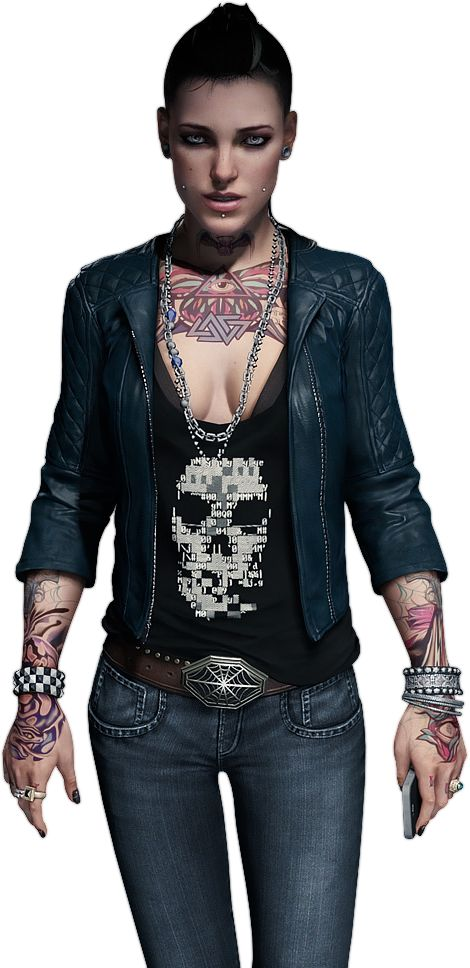 Clara Lille Watch Dogs Leather Jacket -0
