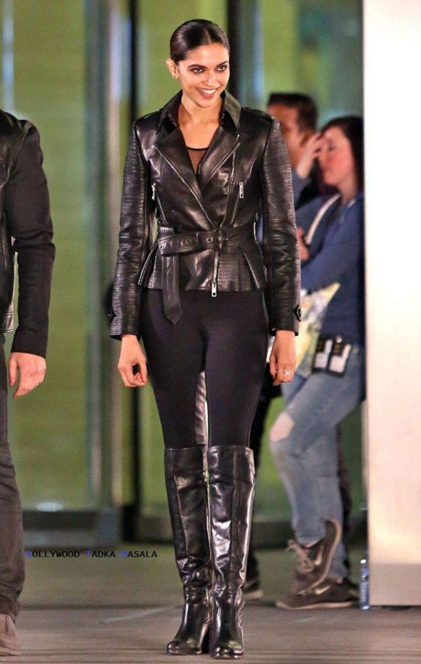 Deepika Padukone Black Leather Jacket xxx Return of Xander Cage-0