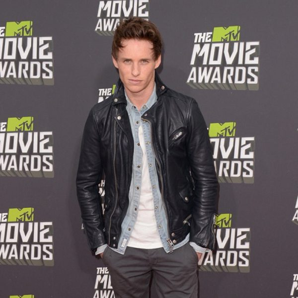 Eddie Redmayne Black Leather Jacket-0