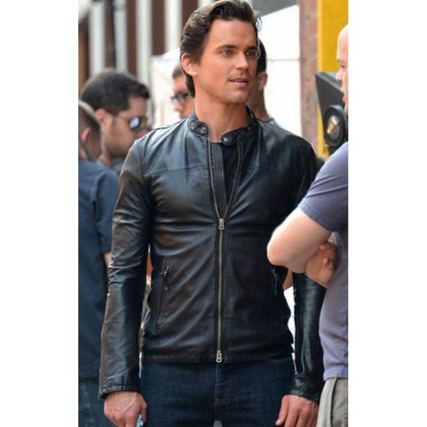 Tv Series White Collar Matt Bomer Black Leather Jacket