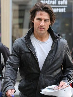 M.I 4 Tom Cruise Black Hooded Jacket