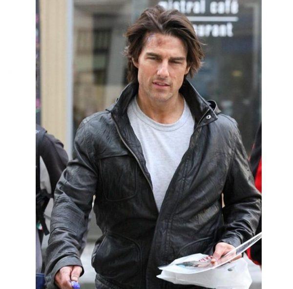 M.I 4 Tom Cruise Black Hooded Jacket