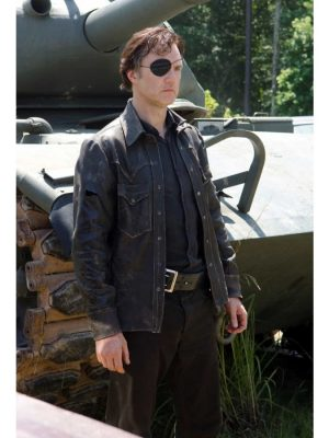 David Morrissey The Walking Dead Leather Jacket