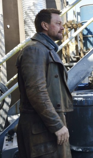 Grant Bowler Defiance Brown Leather Coat