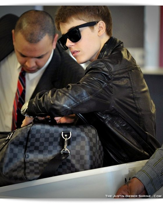 Justin Bieber Heathrow Airport Leather Jacket