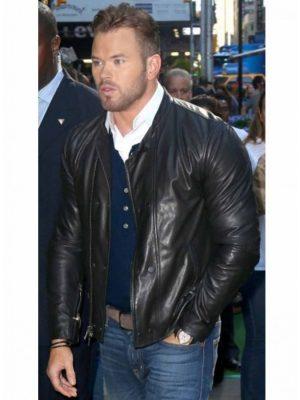 Kellan Lutz Black Leather Jacket The Expendables 3 -0