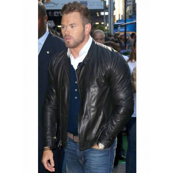 Kellan Lutz Black Leather Jacket The Expendables 3 -0