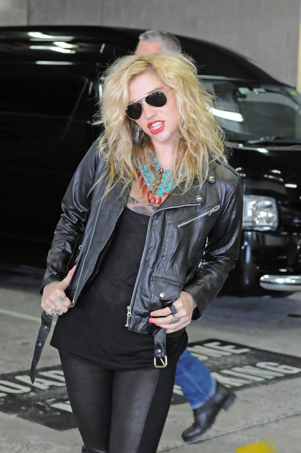 Kesha Black Biker Jacket