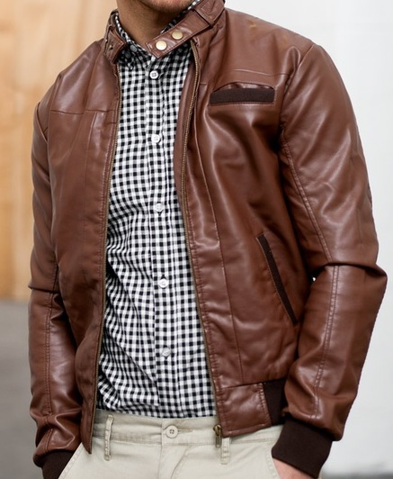 Mens Dark Brown Winter Leather Jacket-0