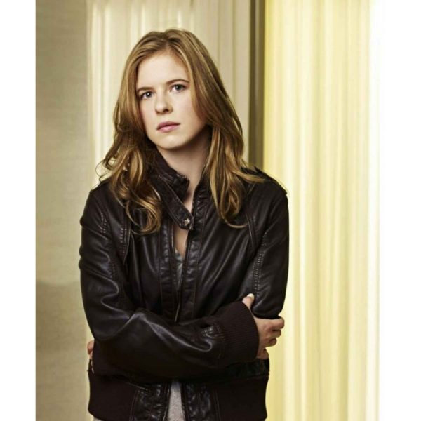 Lacy Rand Brown Leather Jacket caprica series-0