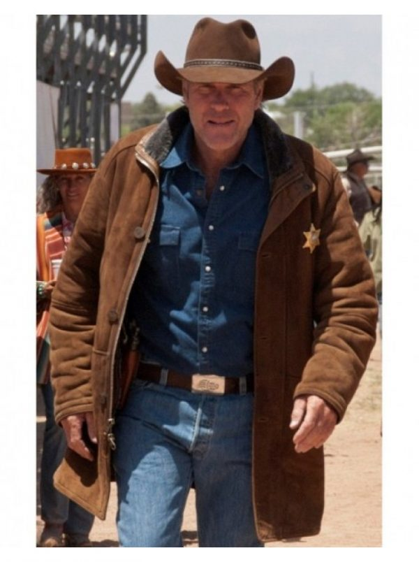 Longmire Robert Taylor Brown Leather Coat