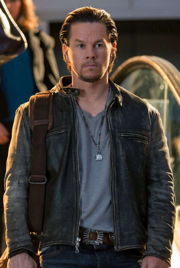 Mark Wahlberg Black Leather Jacket Daddys Home-0