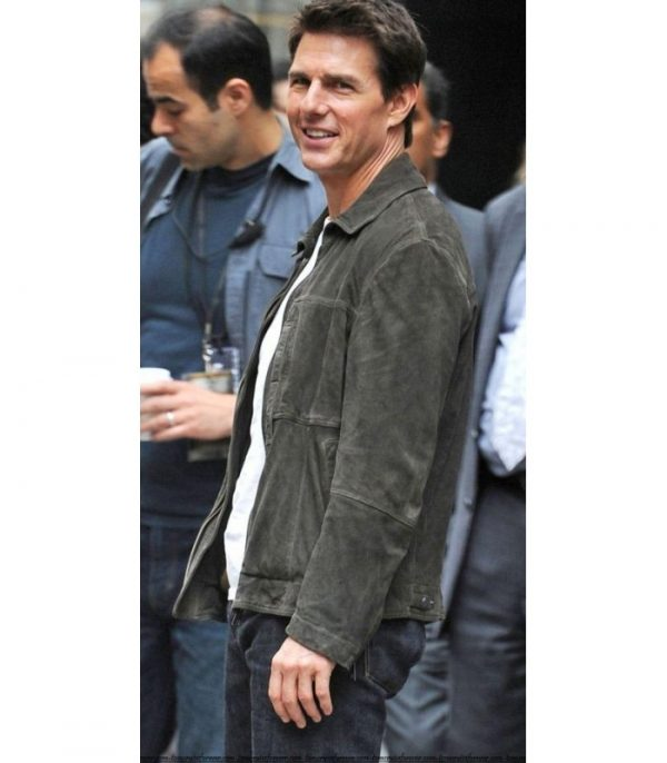 Tom Cruise Green Leather Jacket From Oblivion