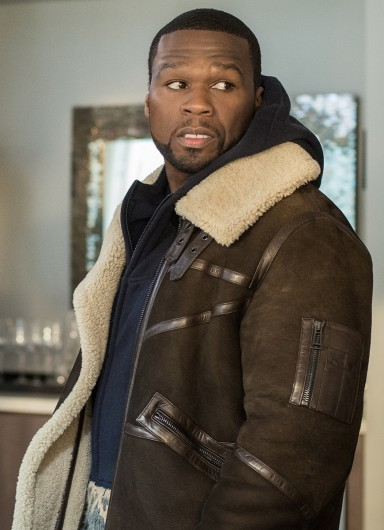 50 Cent Brown Suede Leather Jacket Series Power-4784