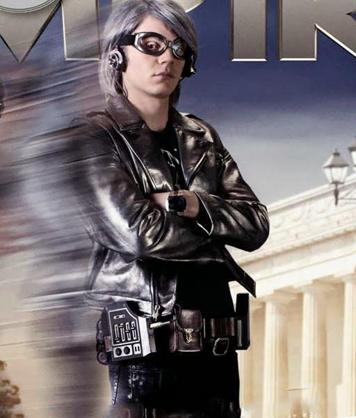 Evan Peters Silver Leather Jacket X Men Apocalypse 2016-0