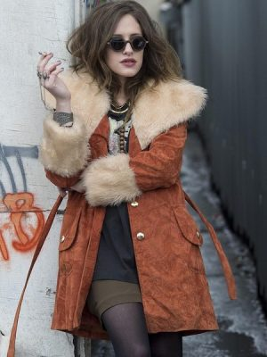 Carly Chaikin Mr Robot Shearling Coat