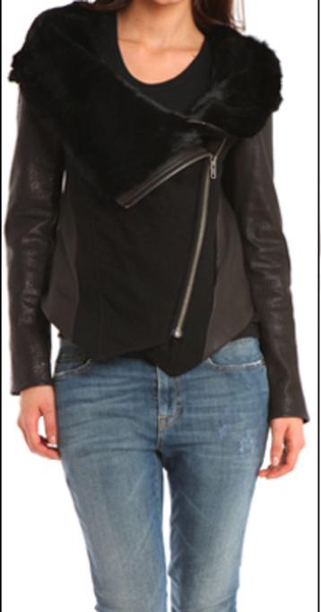 Shakira Brown Fur Leather Jacket
