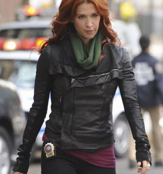 Carrie Wells Unforgettable Black Leather Jacket