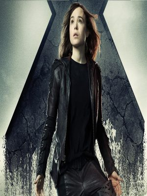 Kitty Pryde Brown Leather Jacket X-Men Days Of Future Past-0
