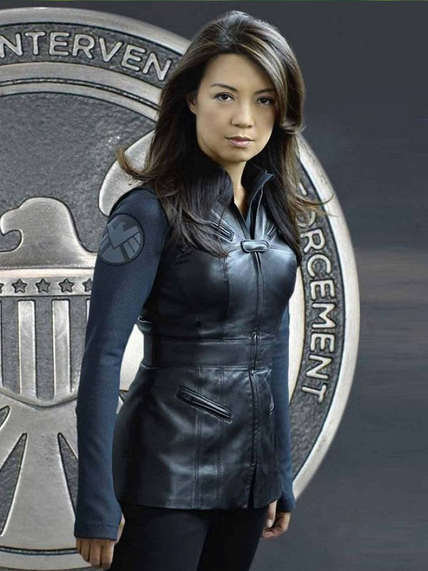 Agents Of Shield Melinda May Blue Leather Vest