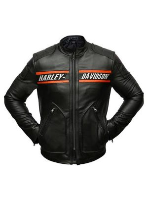 Bill Goldberg Harley Davidson Leather Jacket