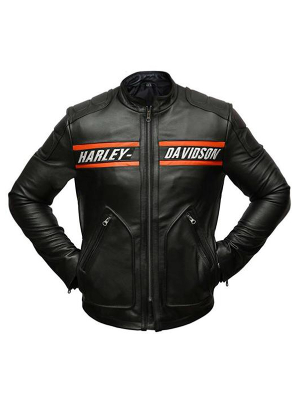 Bill Goldberg Harley Davidson Leather Jacket