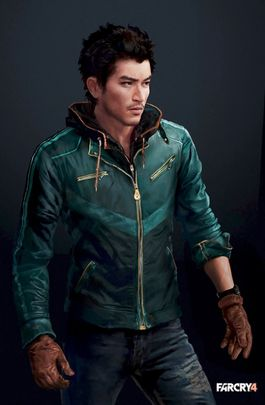 Far Cry 4 Game Ajay Ghale Costume Leather Jacket-0