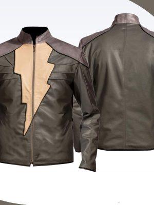 Dwayne Johnson Black Adam Injustice Leather jacket-0