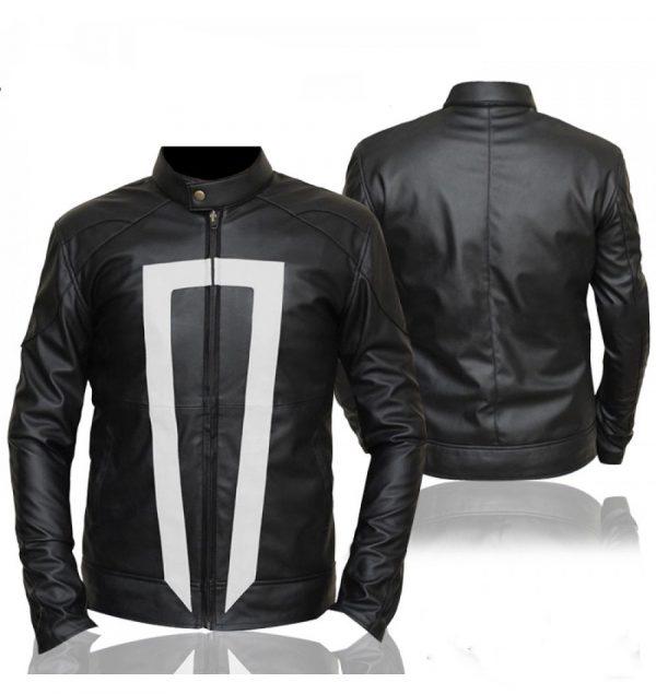 Gabriel Luna Ghost Rider Black Leather Jacket
