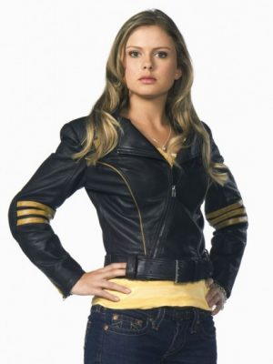 Rose McIver Power Rangers Yellow Ranger Leather Jacket