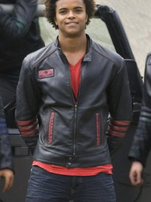 Power Rangers Red Scott Black Leather Jacket