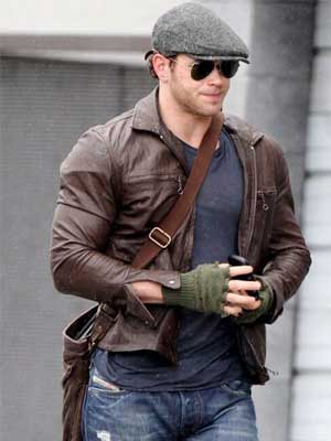 Zac Efron Vintage Brown Leather Jacket-0