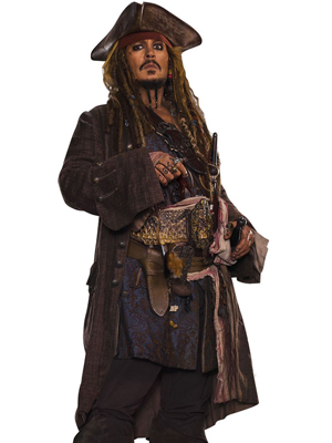 Pirates of the Caribbean Jack Sparrow Leather Costume