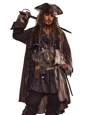 Jack Sparrow Costume The Pirates of the Caribbean: Dead Men Tell No Tales-0