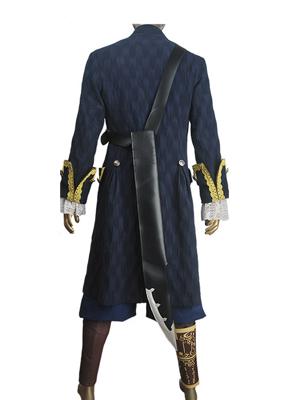 Pirates of the Caribbean Captain Hector Barbossa Blue Costume