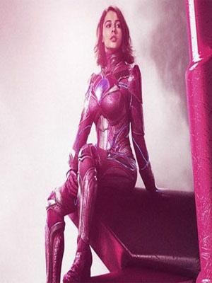 Kimberly Ann Hart (Pink Power Rangers Costume)-0