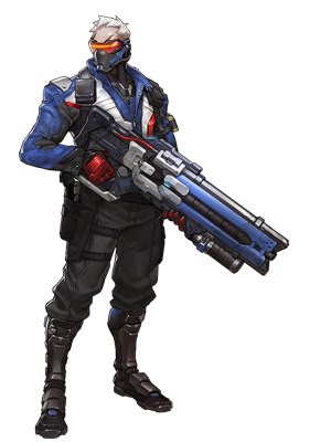 Jack Morrison Overwatch Game Soldier 76 Blue Costume