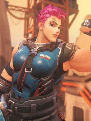 Overwatch Game Zarya Cosplay Costume-0