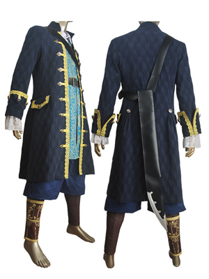Pirates of the Caribbean: Dead Men Tell No Tales Captain Hector Barbossa Blue Costume