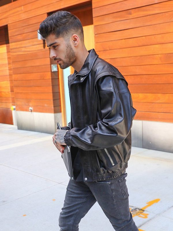 Zayn Mailk Black Bomber jacket