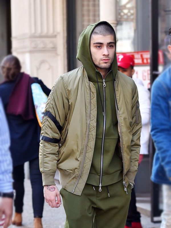 Zayn Malik Green Bomber Jacket. -5184