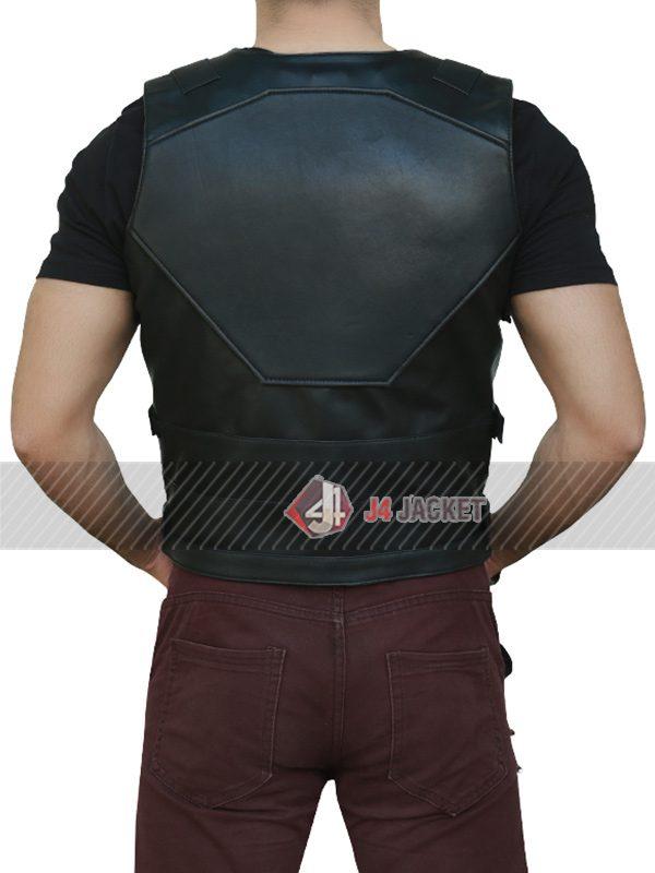 The Punisher Season 2 Jon Bernthal Leather Vest-5251