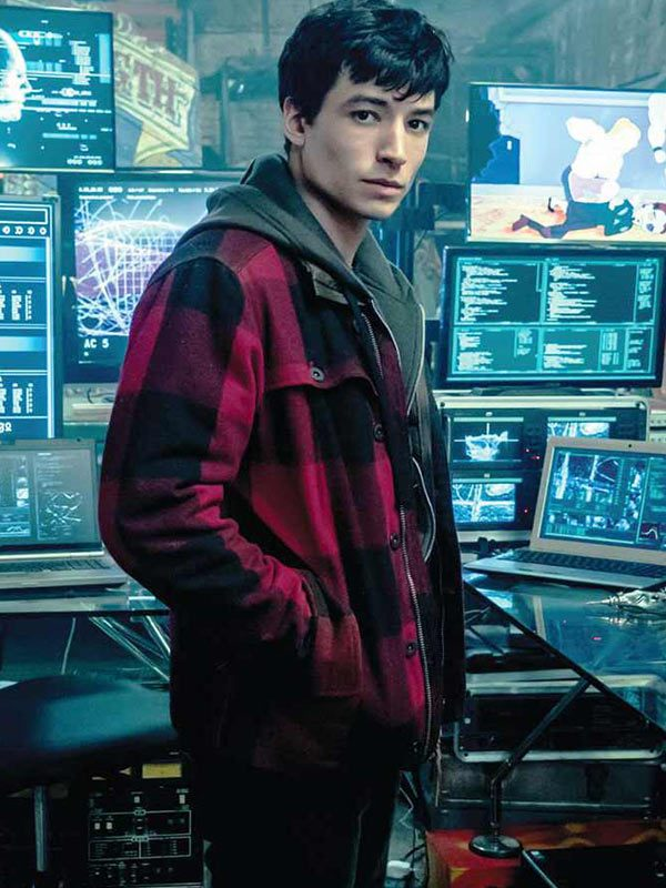 Justice League Barry Allen Cotton Flannel Jacket-5246