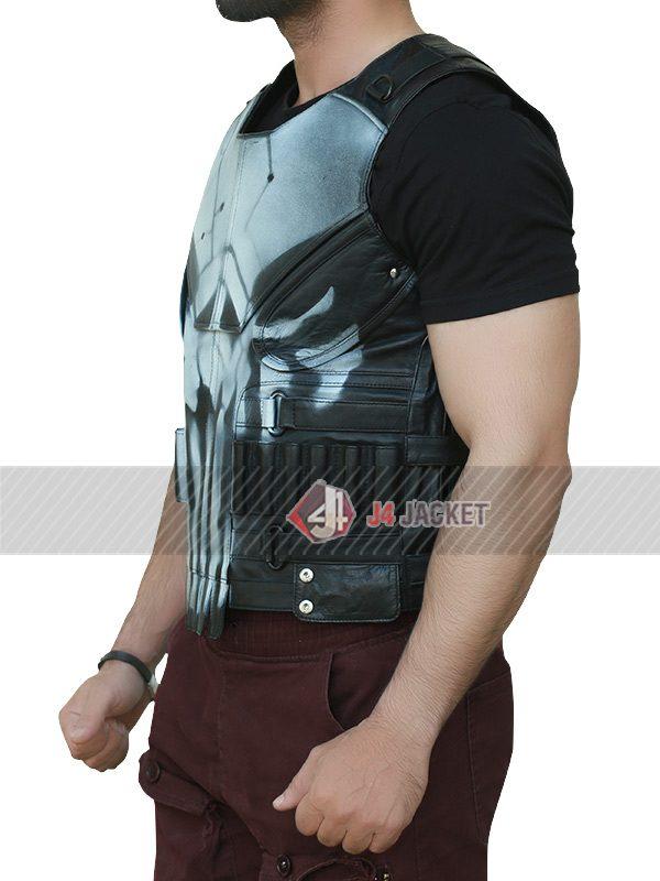The Punisher Season 2 Jon Bernthal Leather Vest-5250